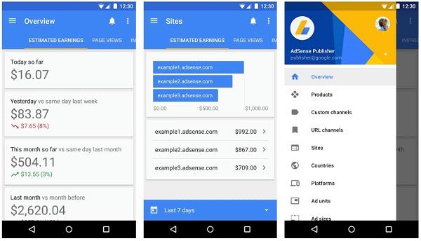 Mobile AdSense App