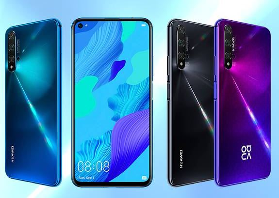 Huawei Nova 5T in colours