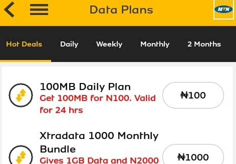 MTN 100mb for N100