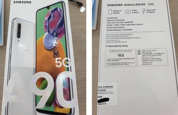 Samsung Galaxy A90 5G retail Box reveals specs