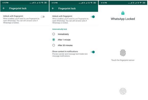 WhatsApp Gets FingerPrint Authentication Feature