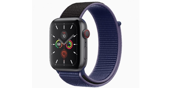Apple Watch Series 5 in Space gray aluminum