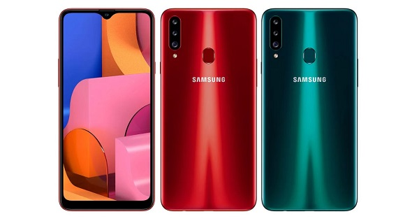 Samsung Galaxy A20s in colours