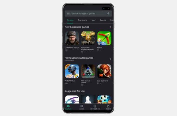 Google Play Store gets Dark Mode