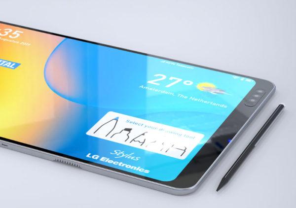 Lg foldable phone with stylus