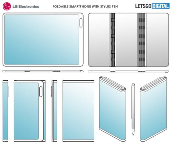 LG foldable phone patents