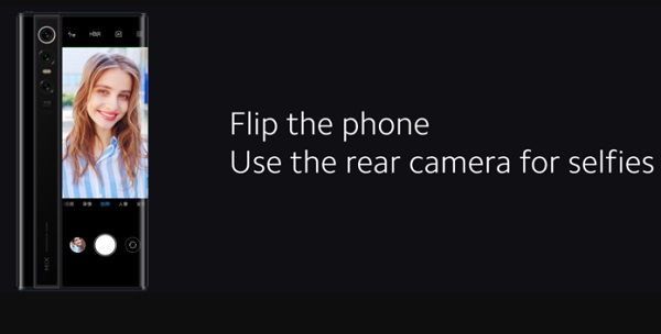 Xiaomi Mi Mix Alpha 5G - taking selfie camera