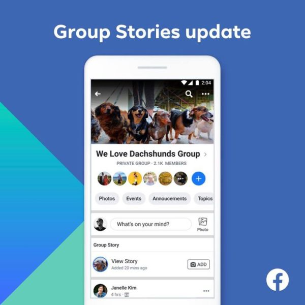 Facebook geoup stories