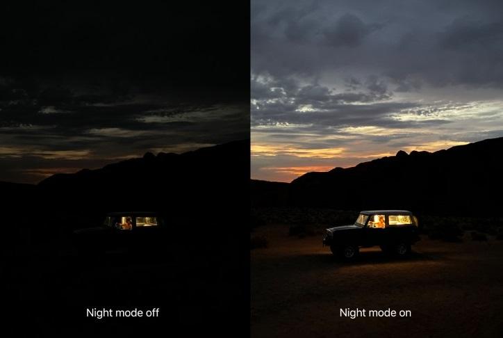 iPhone 11 night mode