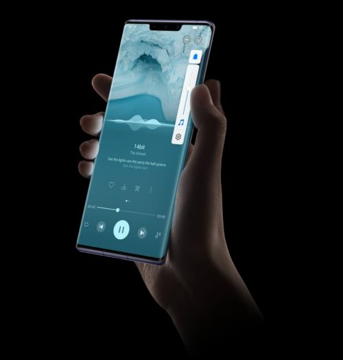 The curved sides of the Horizon Display enable virtual media