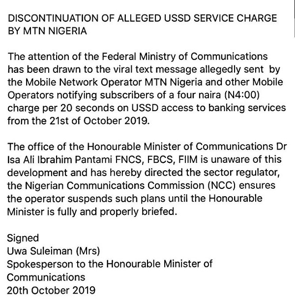 FG Stops Telecoms Companies From Charging USSD Transactions