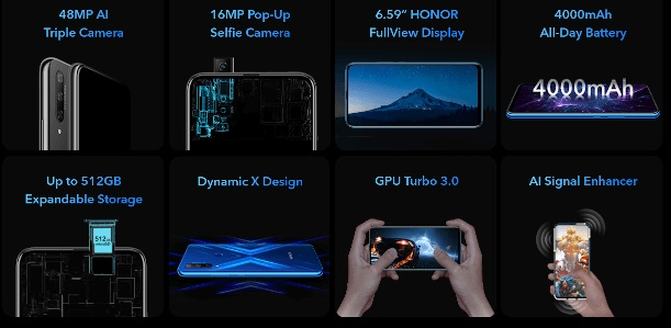 Honor 9X (Global version) features