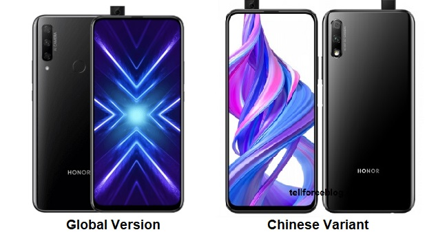 Honor 9X (Global version) vs 9X (China version)