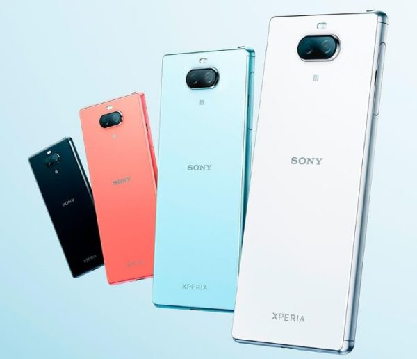 Sony Xperia 8 in colours.