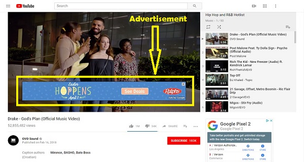 Ads on YouTube