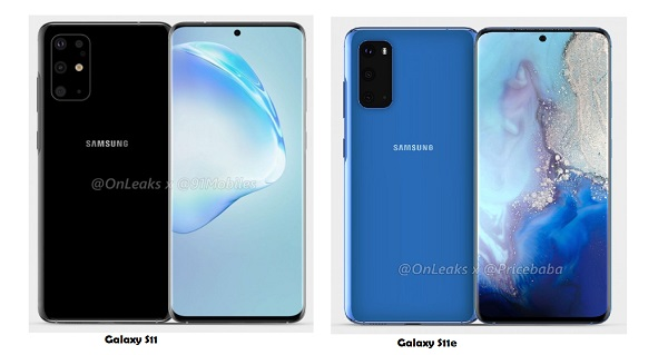 Alleged Galaxy S11 and S11e Render