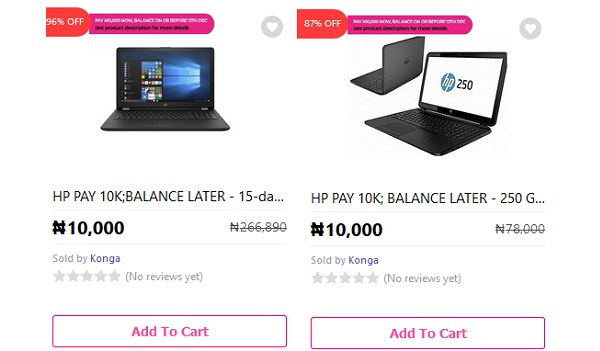 You Can Get A New Laptop With Just N10,000 On Konga
