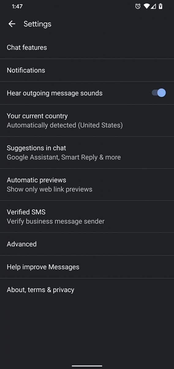 google messages verified sms busines