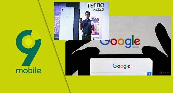 9mobile, Transsion, Google