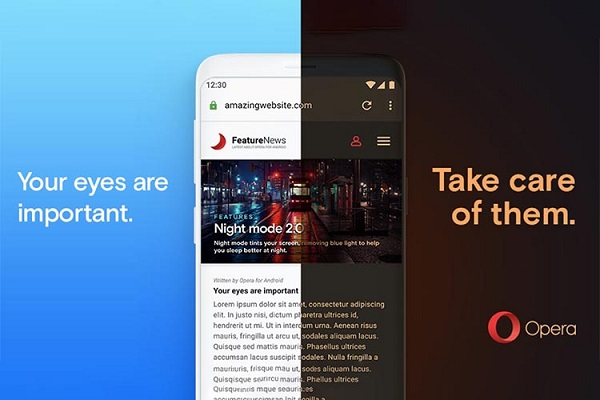 Opera For Android night mode