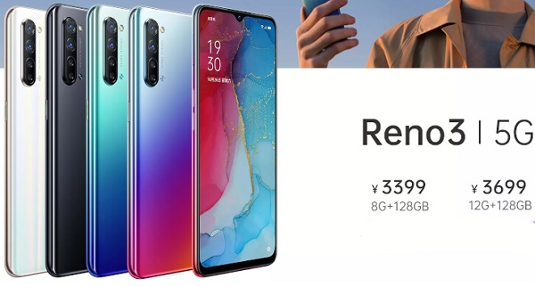 Oppo Reno 3 in colours and Price