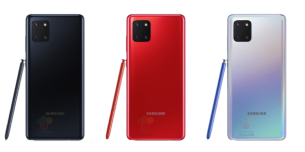 Galaxy Note10 Lite in colours