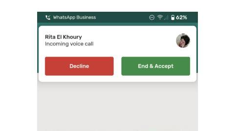 WhatsApp Call Waiting