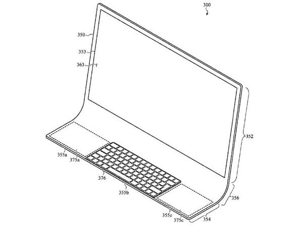 APPLE IMAC DESIGN PATENT REVEALS ALL-GLASS REDESIGN WITH EMBEDDED DISPLAY