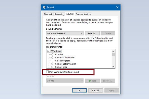 How to Get Windows Startup Sound Back in Windows 10