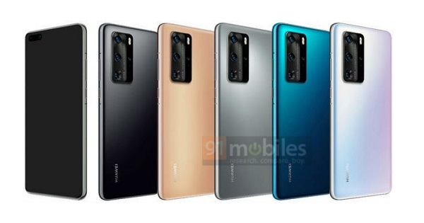 Huawei P40 Pro renders revealing the five launch colors