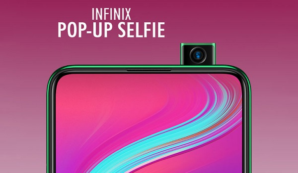 Infinix with pop up selfie camera