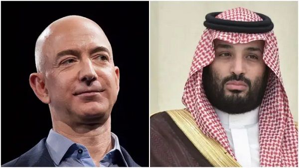 Jeff Bezos and Saudi Crown Prince Mohammed bin Salman