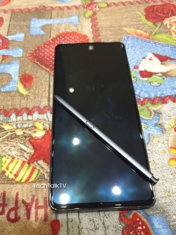 Live Image Of Samsung Galaxy Note10 Lite Leaks