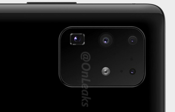 Samsung Galaxy S20 Ultra 5G's camera renders by Onleaks