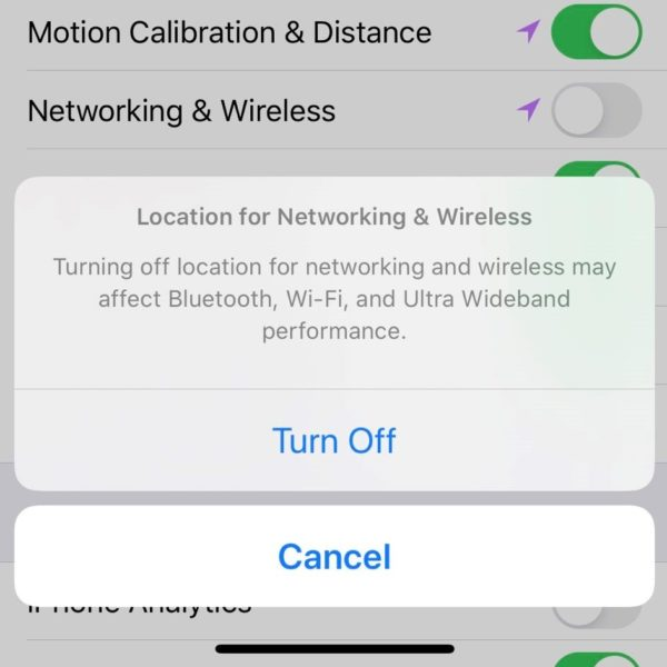 Turning location on on iPhone 11
