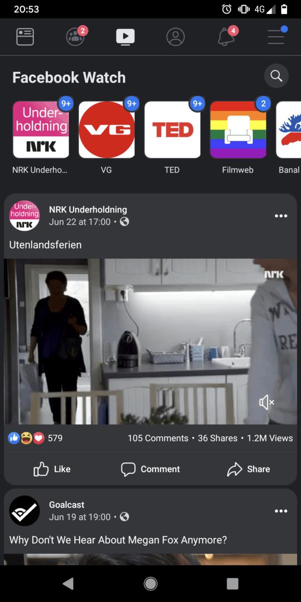 facebook app dark mode 1