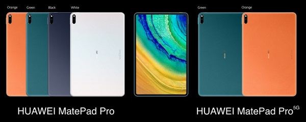 Huawei Matepad Pro in Colours