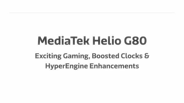 MediaTek Helio G80