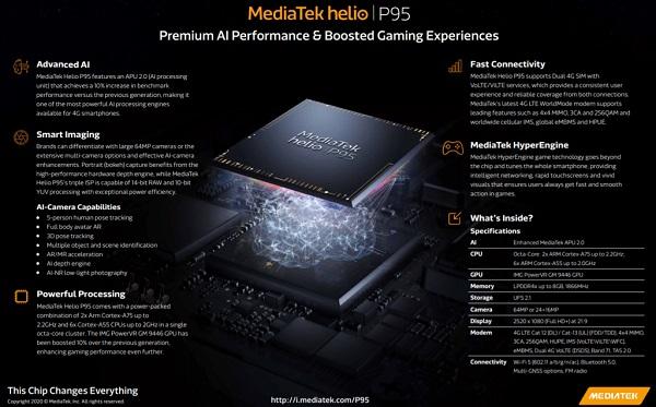 MediaTek Helio P95 Specs