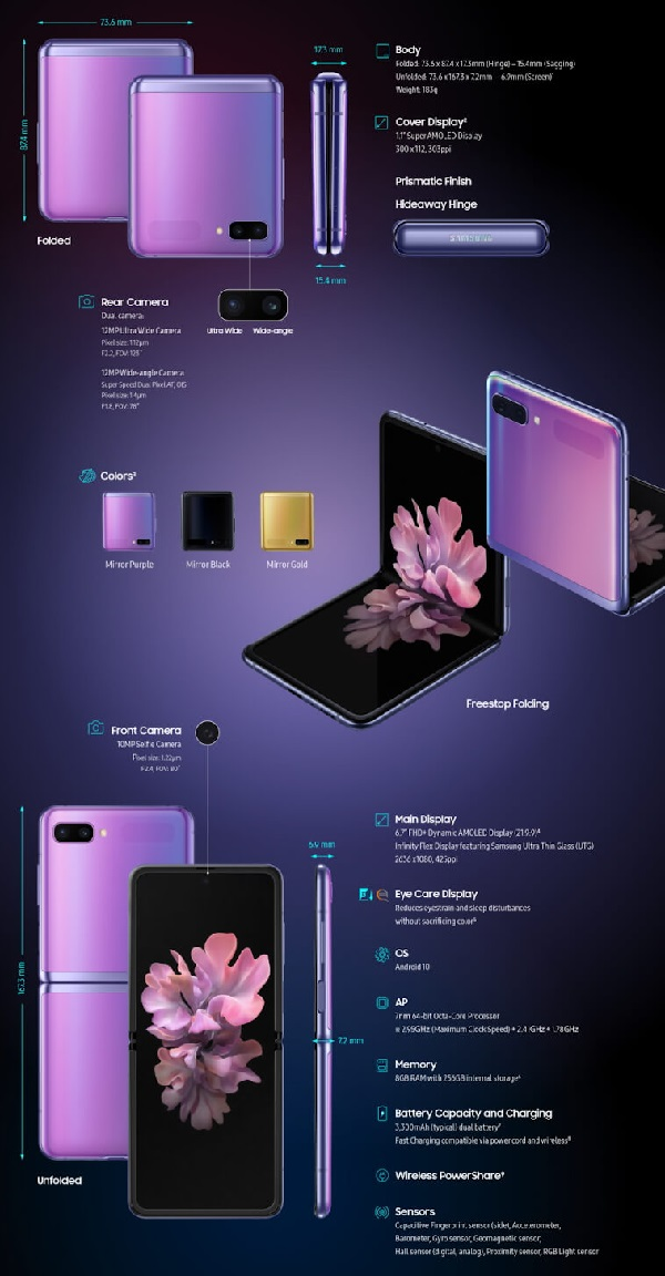 Samsung Galaxy Z Flip Specs In Picture