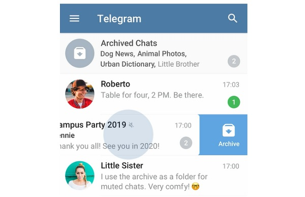 Archiving Chat In Telegram