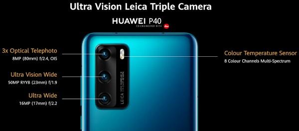 Huawei P40 Camera Details