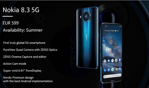Nokia 8.3 5G Specs
