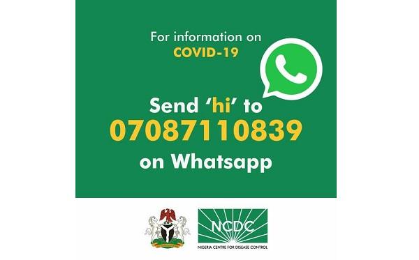 Real-time Coronavirus Updates NCDC WhatsApp Number