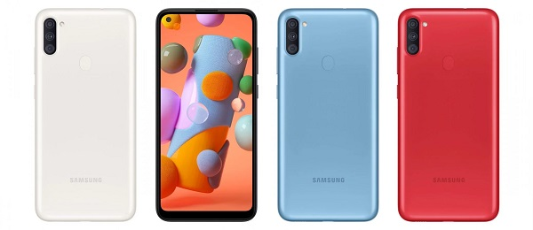 Samsung Galaxy A11 In Colours