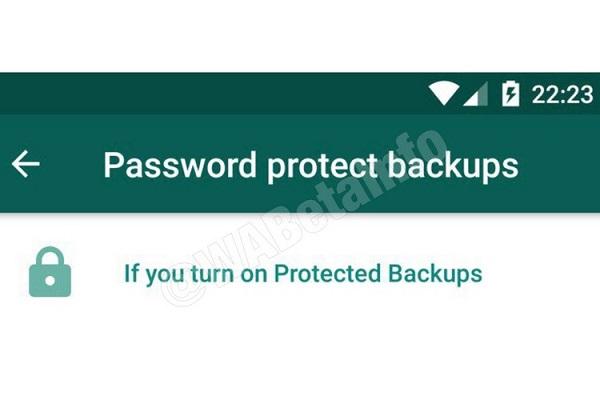WhatsApp Protect Backup.