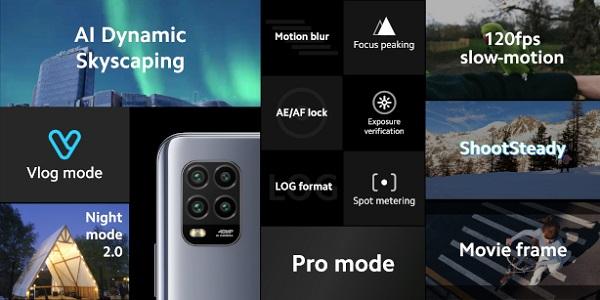 Xiaomi Mi 10 Lite Camera Info