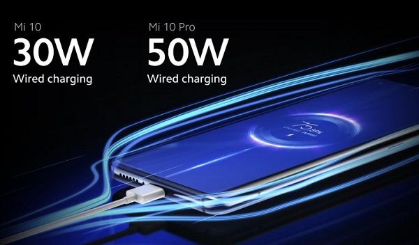 Xiaomi Mi 10 and Mi 10 Pro Charging