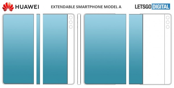 Huawei files patent for smartphones with extendable displays