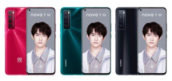 Huawei nova 7 In Colors